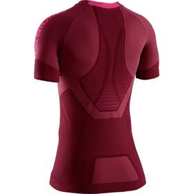 X-Bionic Invent 4.0 Run Speed Camiseta Manga Corta SH Mujer, namib red/neon flamingo